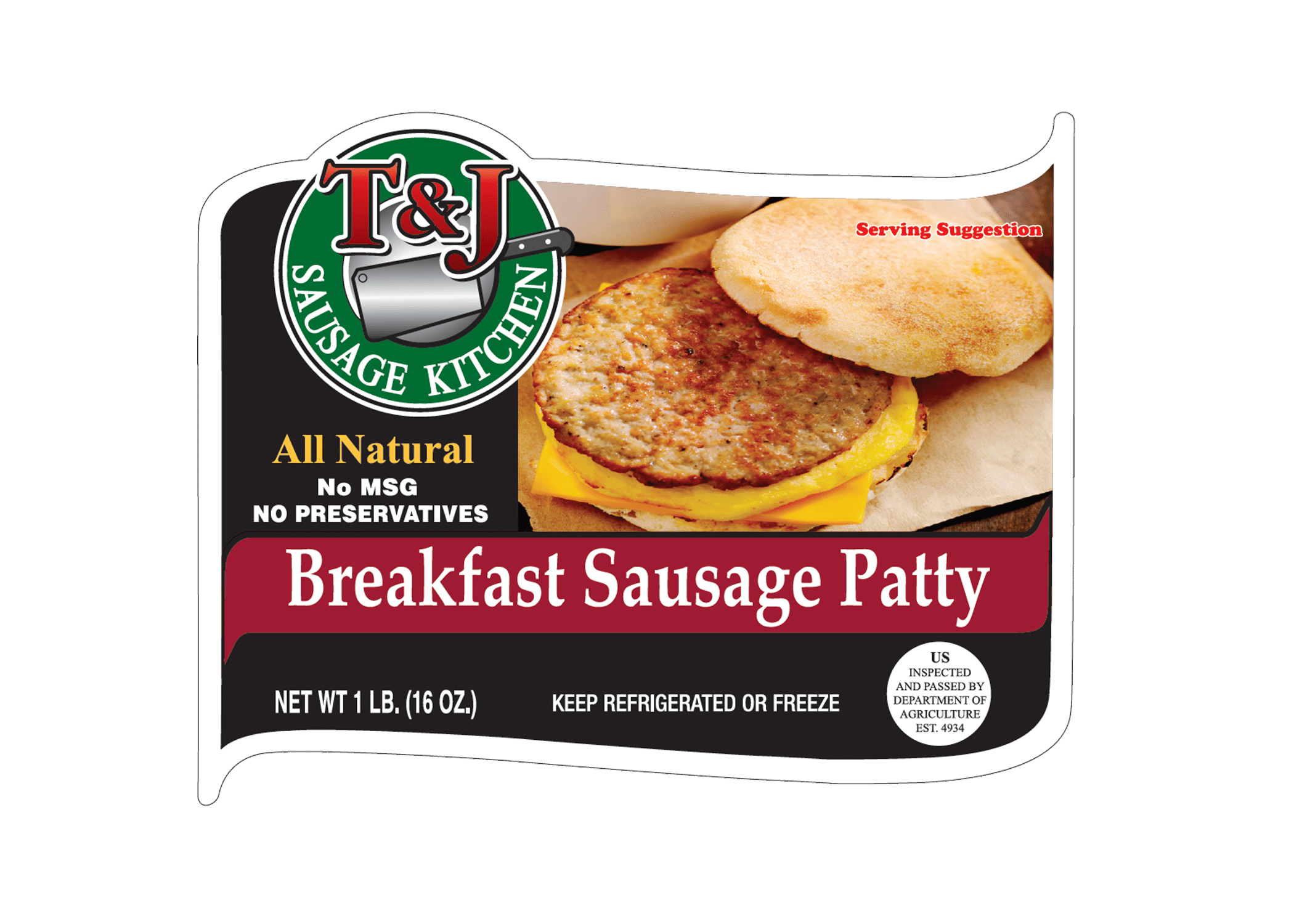 T & J Breakfast Sausage Patty (1 lb)
