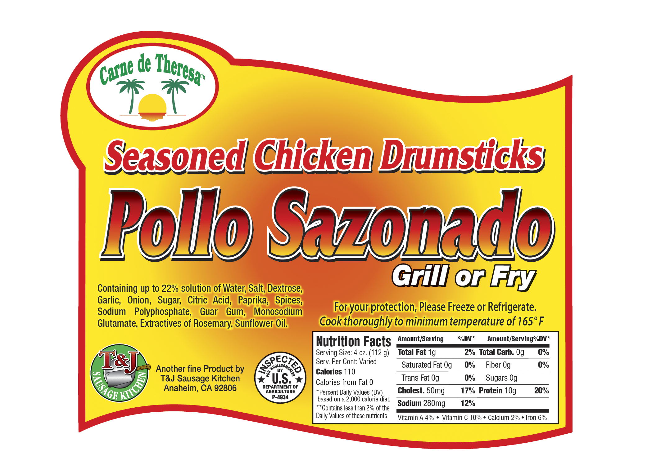 CDT Pollo Sazonado Drumsticks