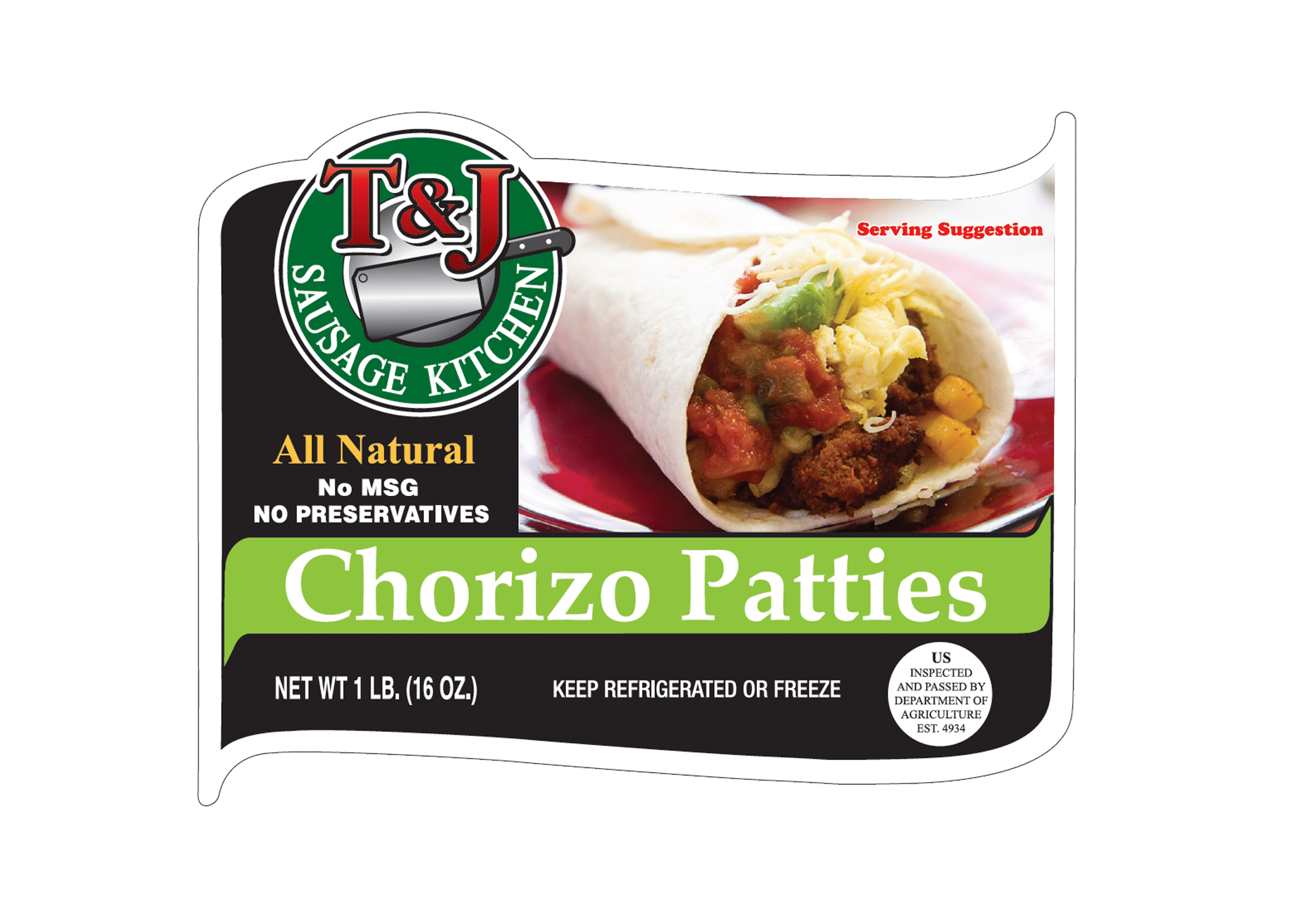 T & J Chorizo Patties (1 lb)