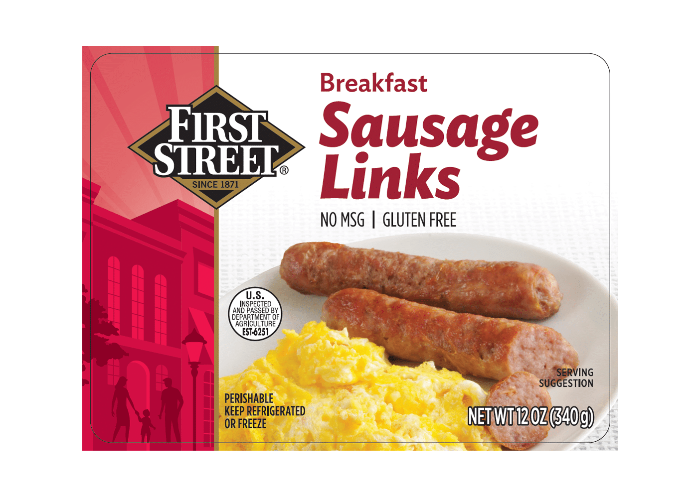 First Street Breakfast Sausage Links