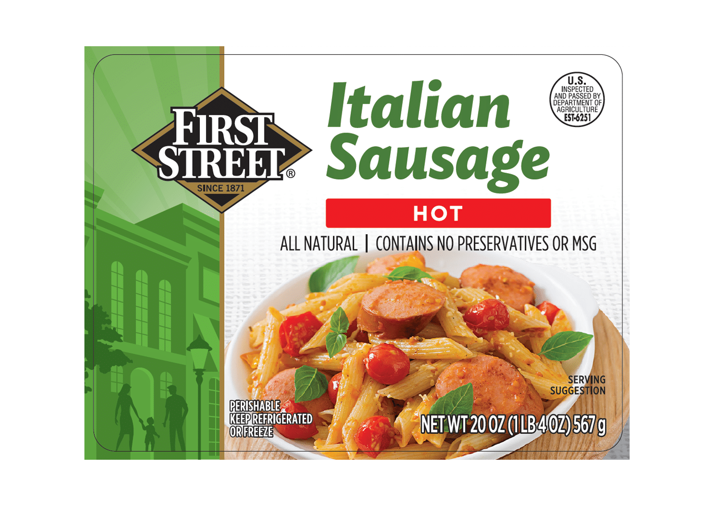 First Street Hot Italian Sausage