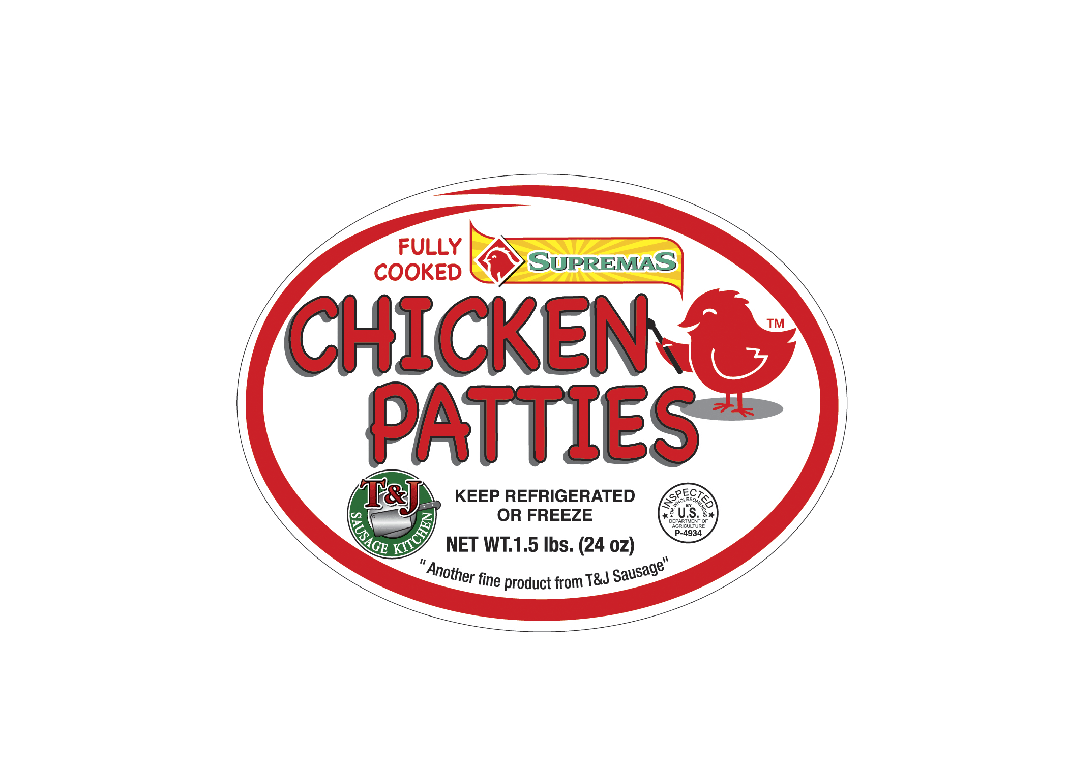 Supremas Chicken Patties