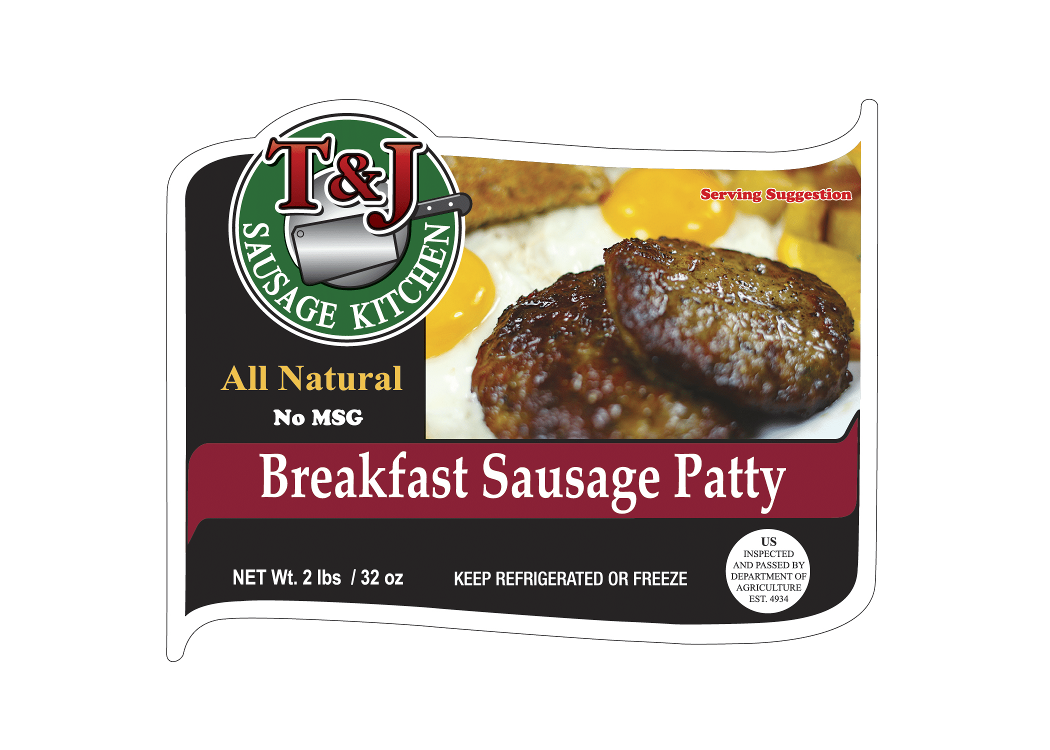 T & J Breakfast Sausage Patty